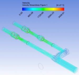Modeling of Velocity Streamlines Though A Manifold